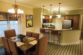 Interior suite view at RiverStone Resort.