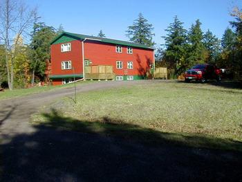 Exterior view of Porcupine Lodge.