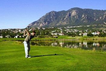 Golfing at Cheyenne Mountain Resort.