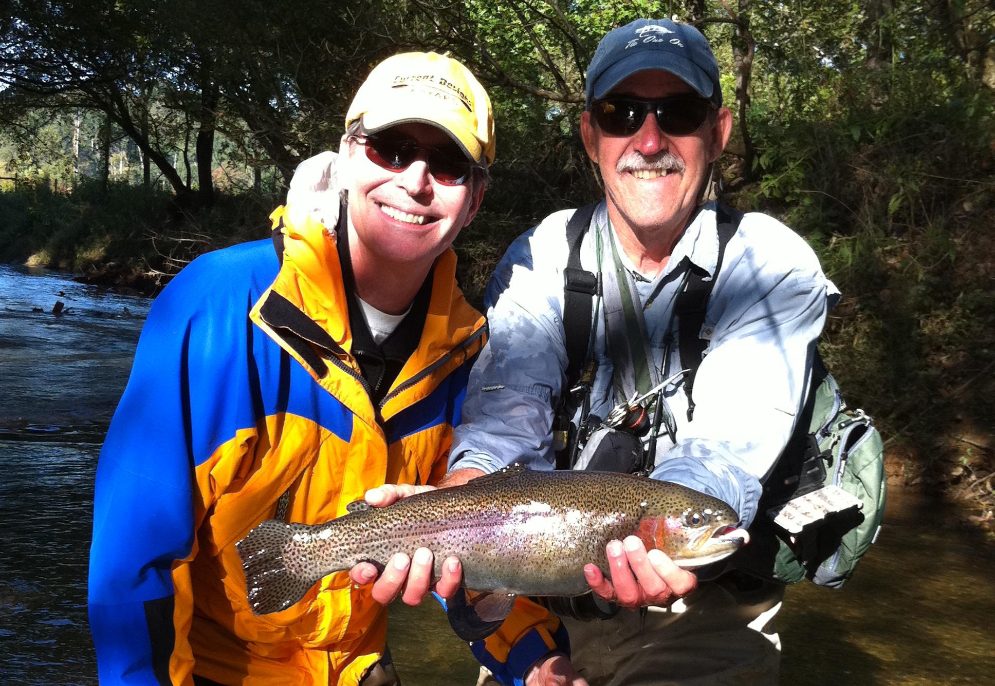 Fishing at Sautee Mountain Retreat.