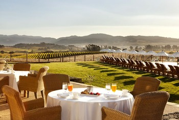 Outdoor dining at The Carneros Inn.