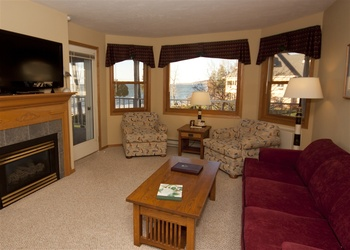 Living room at Westwood Shores Waterfront Resort.