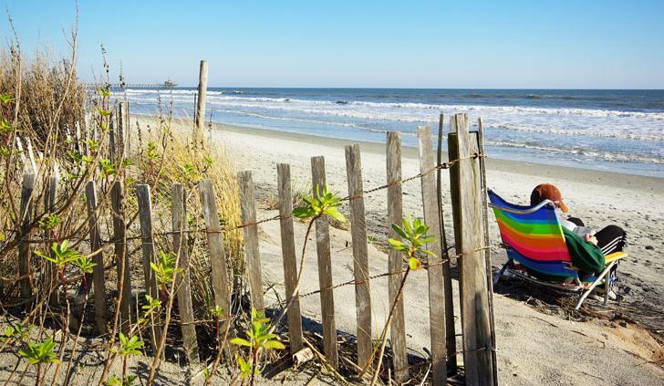 The beach at North Beach Realty.