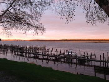 Sunset at River Bend Resort.