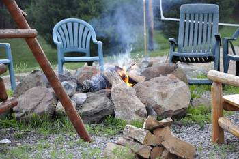 Campfires at Spot in the Woods Lodging.