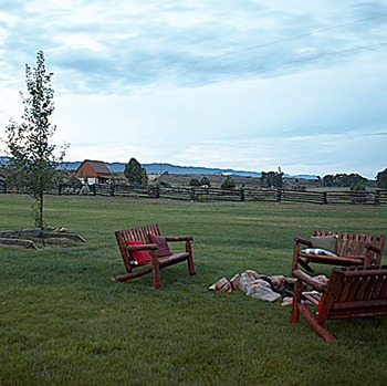 Fire Pit at Cottonwood Meadow Lodge