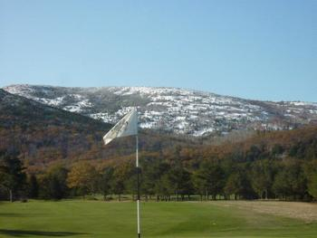 Golf course near Bar Harbor Motel.