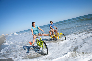 Beach bikes at Caribbean Resort & Villas.