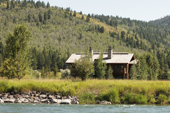 Cabin exterior at South Fork Lodge.