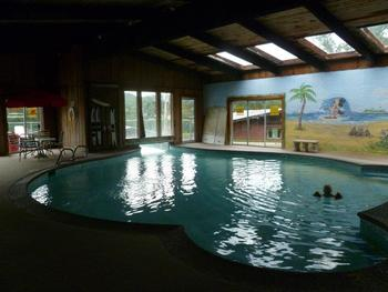 Indoor pool at Bass Point Resort.