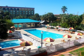 Outdoor pool at Ramada-Plaza Beach Resort.