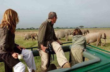 Elephant safaris at Amboseli Serena.