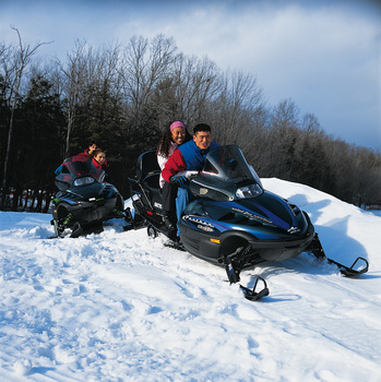 Snowmobiling at Cove Haven Entertainment Resorts.
