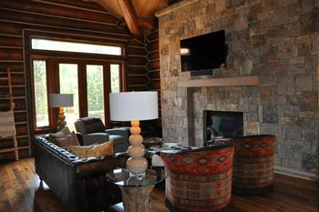 Vacation rental living room at SilverStar Luxury Properties.