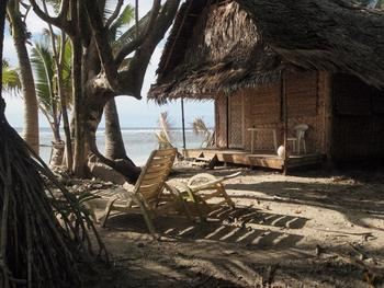Cottage exterior at Kosrae Village Resort.