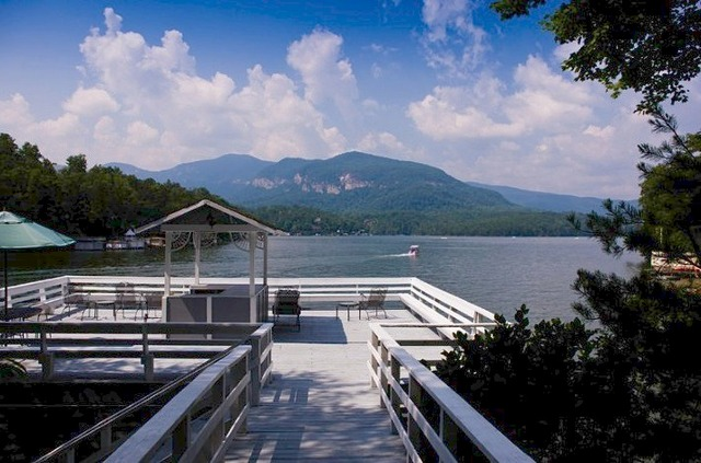 Lake Dock View at Lodge On Lake Lure