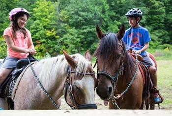 Horseback riding at Crystal Springs Resort.