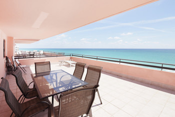 Balcony View from The Alexander - HORA Vacation Rentals