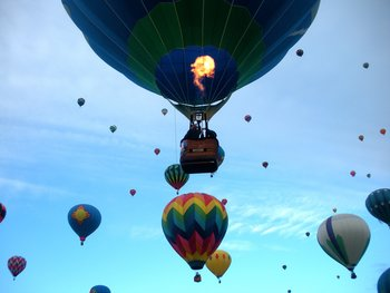Hot air balloon festival at Hacienda Vargas Bed and Breakfast.