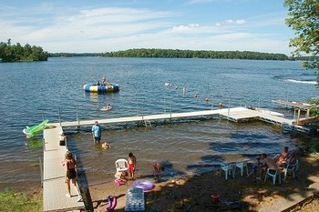 Lake Dock at Woodland Beach Resort