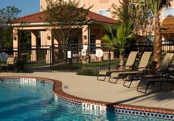 Outdoor pool at TownePlace Suites San Antonio Northwest.