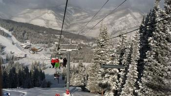 Ski lift at Vail Mountain Lodge & Spa.