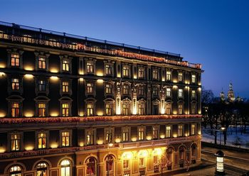 Exterior view of Grand Hotel Europe.