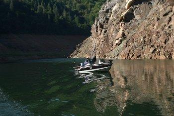 Fishing at Lake Oroville.