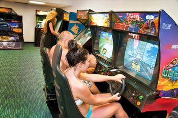 Video arcade at Best Western PLUS Oceanfront Virginia Beach.