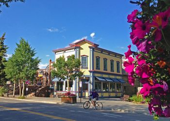 Main Street in Breckenridge in the summer
