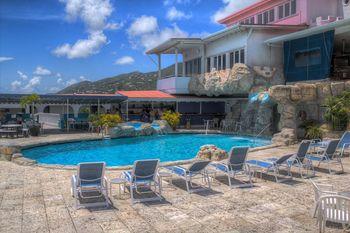 Outdoor pool at Bluebeard's Castle Resort.