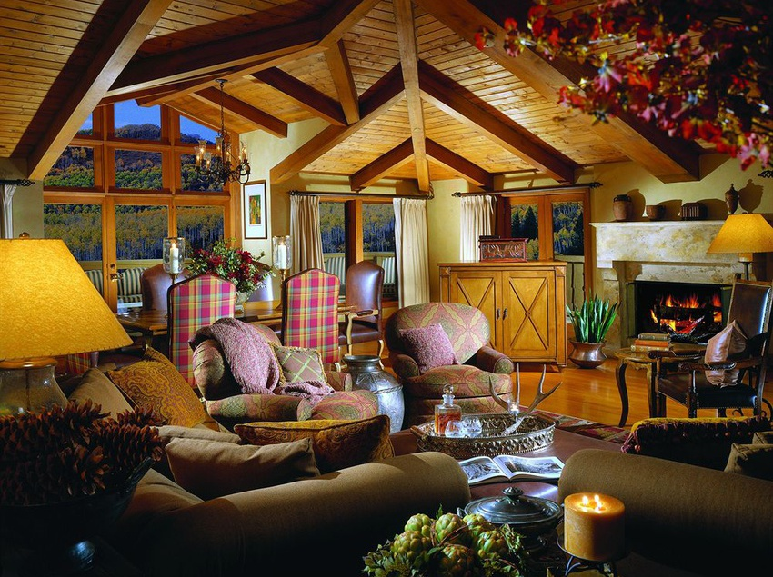 Guest living room at The Lodge At Vail.