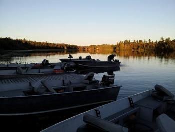 The lake at Marten River Lodge.