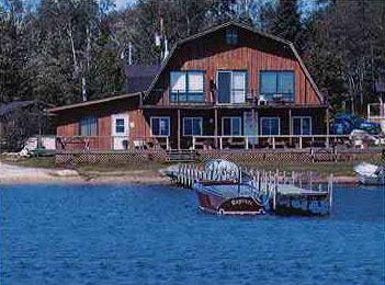 Main Lodge Exterior at Wolf Bay Lodge