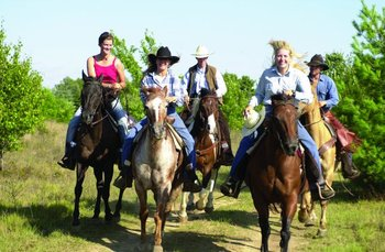 Horseback riding at Double JJ Resort.