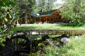 Exterior view of Shoshone Lodge & Guest Ranch.
