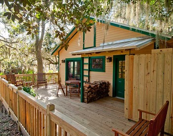 Michael Cottage patio at Lodge on Little St. Simons Island.
