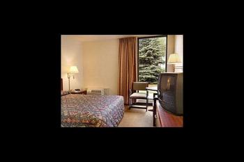 Guest room at Super 8 Arden Hills.