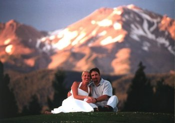 Wedding Couple at Mount Shasta Resort