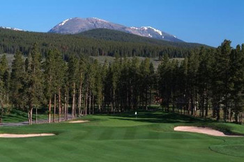 Beautiful view from golf course at Blue Sky Breckenridge.