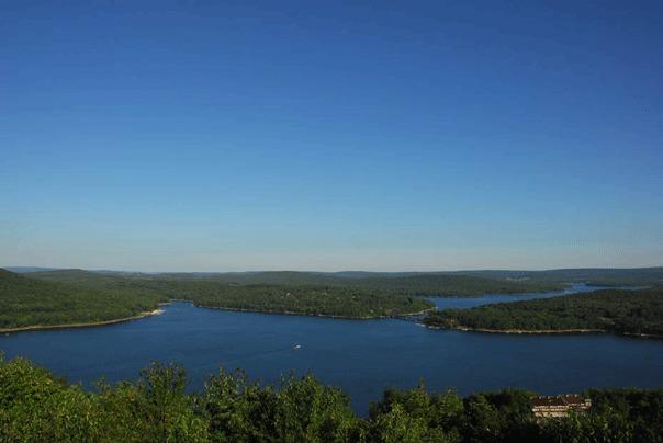 Spectacular Deep Creek Lake view at Deep Creek Vacations.