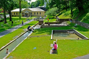 Canals at Berkeley Springs Cottage Rentals.