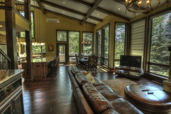 Vacation rental living room at SkyRun Vacation Rentals - Vail, Colorado.