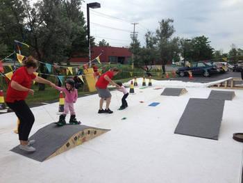 Children's snowboarding lessons at Smuggler's Notch Resort.