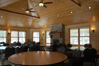 Banquet room at Boyd Lodge.