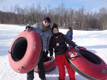 Tubing at Christie Mountain Ski Area.