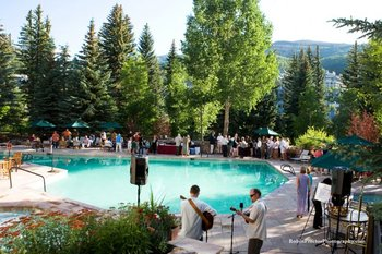 Outdoor pool party at The Charter at Beaver Creek.