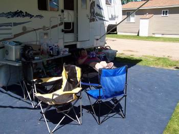 RV camping at Shady Grove Resort.