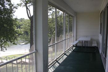 Balcony view at Kentucky Beach Resort.