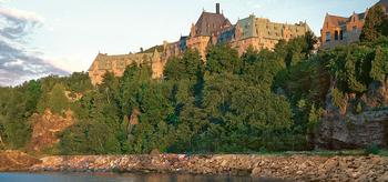 Fairmont Le Manoir Richelieu perched on a cliff.